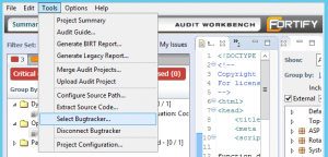 fortify-ssc-sca-tfs-bug-tracker-select