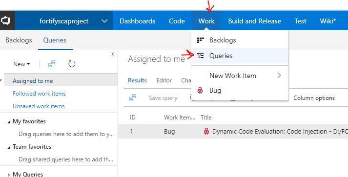 fortify-ssc-sca-tfs-bug-tracker-visualstudio-2